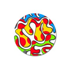 Colorful Graffiti Magnet 3  (round) by Valentinaart