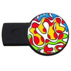 Colorful Graffiti Usb Flash Drive Round (4 Gb)  by Valentinaart