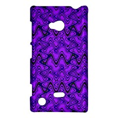 Purple Wavey Squiggles Nokia Lumia 720 by BrightVibesDesign