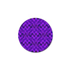 Purple Wavey Squiggles Golf Ball Marker (10 Pack) by BrightVibesDesign