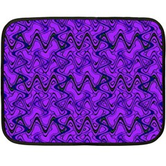 Purple Wavey Squiggles Double Sided Fleece Blanket (mini)  by BrightVibesDesign