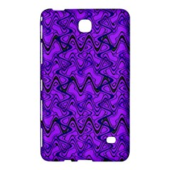 Purple Wavey Squiggles Samsung Galaxy Tab 4 (7 ) Hardshell Case  by BrightVibesDesign