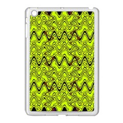 Yellow Wavey Squiggles Apple Ipad Mini Case (white) by BrightVibesDesign