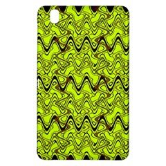 Yellow Wavey Squiggles Samsung Galaxy Tab Pro 8 4 Hardshell Case by BrightVibesDesign