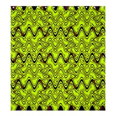 Yellow Wavey Squiggles Shower Curtain 66  X 72  (large)  by BrightVibesDesign