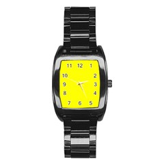 Yellow colour Stainless Steel Barrel Watch by artpics