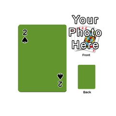 Sushi Green Colour Playing Cards 54 (Mini)  by artpics