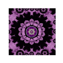 Decorative Leaf On Paper Mandala Small Satin Scarf (square) by pepitasart
