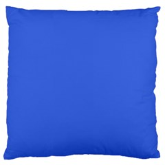 Royal Blue Colour Large Flano Cushion Case (Two Sides) by artpics