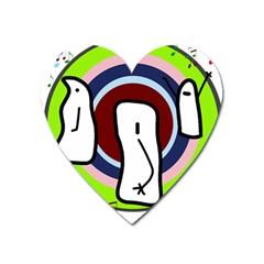Disco Heart Magnet by Valentinaart