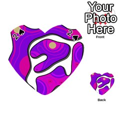 Purple Graffiti Playing Cards 54 (heart)  by Valentinaart