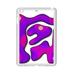 Purple Graffiti Ipad Mini 2 Enamel Coated Cases by Valentinaart