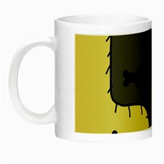 Angry Little Dog Night Luminous Mugs by Valentinaart