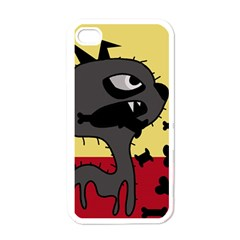 Angry little dog Apple iPhone 4 Case (White)