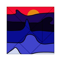 Waves Acrylic Tangram Puzzle (6  X 6 ) by Valentinaart
