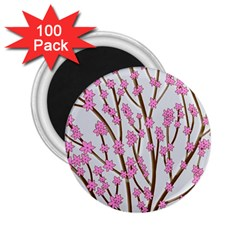 Cherry Tree 2 25  Magnets (100 Pack)  by Valentinaart