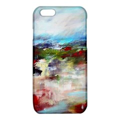 red abstract landscape iPhone 6/6S TPU Case by artistpixi