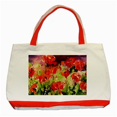 Abstract Poppys  Classic Tote Bag (red) by artistpixi