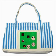 Audience  Striped Blue Tote Bag by Valentinaart