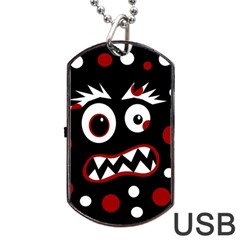 Madness  Dog Tag Usb Flash (two Sides)  by Valentinaart