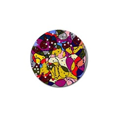 New Year Golf Ball Marker by Valentinaart