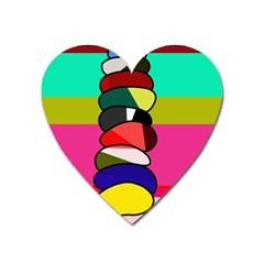 Zen Heart Magnet by Valentinaart