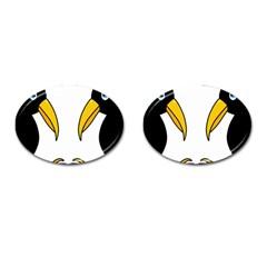 Ravens Cufflinks (Oval) by Valentinaart