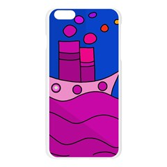 Boat Apple Seamless iPhone 6 Plus/6S Plus Case (Transparent) by Valentinaart