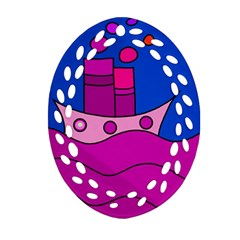 Boat Oval Filigree Ornament (2 Side)  by Valentinaart