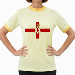 Ulster Banner Women s Fitted Ringer T-Shirts
