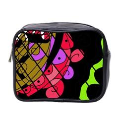Elegant Abstract Decor Mini Toiletries Bag 2 Side by Valentinaart