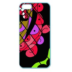 Elegant Abstract Decor Apple Seamless Iphone 5 Case (color) by Valentinaart
