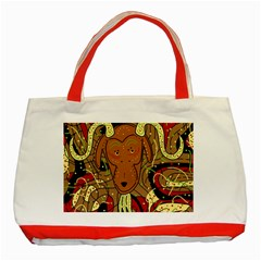 Billy goat Classic Tote Bag (Red) by Valentinaart