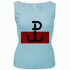 Flag Of The Polish Underground State, 1939 1945 Women s Baby Blue Tank Top by abbeyz71