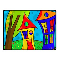 Two houses  Fleece Blanket (Small) by Valentinaart