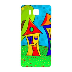 Two houses  Samsung Galaxy Alpha Hardshell Back Case by Valentinaart