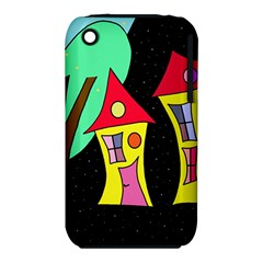 Two Houses 2 Apple Iphone 3g/3gs Hardshell Case (pc+silicone) by Valentinaart