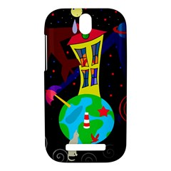 Colorful universe HTC One SV Hardshell Case by Valentinaart