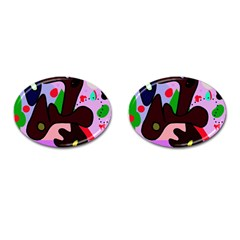 Decorative abstraction Cufflinks (Oval)