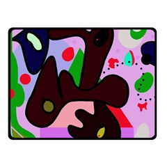 Decorative Abstraction Double Sided Fleece Blanket (small)  by Valentinaart