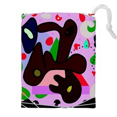 Decorative Abstraction Drawstring Pouches (xxl) by Valentinaart