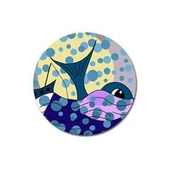 Whale Magnet 3  (round) by Valentinaart