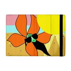 Sunflower On Sunbathing Apple Ipad Mini Flip Case by Valentinaart