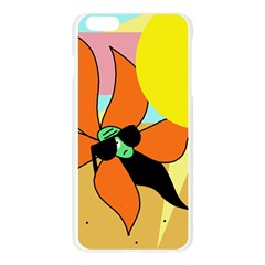 Sunflower on sunbathing Apple Seamless iPhone 6 Plus/6S Plus Case (Transparent) by Valentinaart