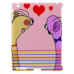 Love Apple iPad 3/4 Hardshell Case (Compatible with Smart Cover) by Valentinaart