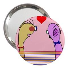 Love 3  Handbag Mirrors by Valentinaart
