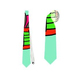 Dancing  Snakes Neckties (one Side)  by Valentinaart