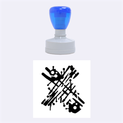 Abstract Decor   Blue Rubber Round Stamps (medium) by Valentinaart