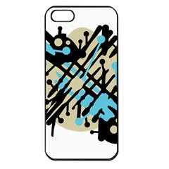 Abstract Decor   Blue Apple Iphone 5 Seamless Case (black) by Valentinaart