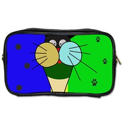 Ice Cream Cat Toiletries Bags 2 Side by Valentinaart